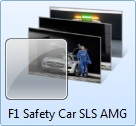 F1 Safety Car SLS AMG themepack for Windows 7
